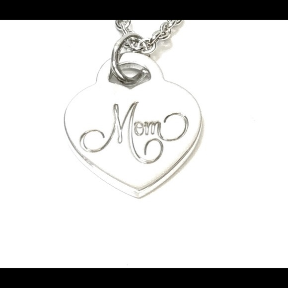 "4dd8ec3cf122a Authentic Tiffany & Co. ""Mom"" heart tag (no chain)"